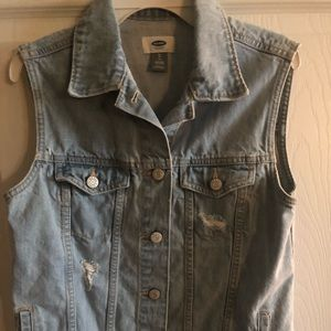 Old Navy Jean Jacket Vest